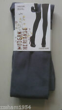 NWT Modern Heritage Fleece TIGHTS W FOOT Gray Warm Soft Comfortable L / XL