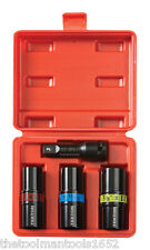 NEW - 4pc 1/2-inch Drive Double Ended LUG NUT Impact Socket Set - 6 common sizes