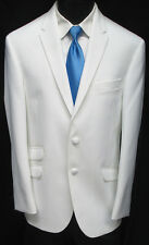 "New White ""The Situation"" Tuxedo Dinner Jacket Slim Fit Wedding Prom Cruise 42R"