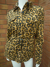 RALPH LAUREN LEOPARD PRINT BELTED SAFARI JACKET BNWT RETAIL £225 SIZE S UK 10/12