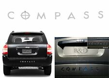 Mirror Chrome Rear Bumper Inserts For 2007-2010 Jeep Compass New Free Shipping