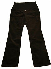 THYME Black Velvet Maternity Pants Color: Black Sz: Large