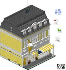 Lego® ISTRUZIONI/INSTRUCTIONS-Ice-Cream Shop/Gelateria-(Custom Modular Building)