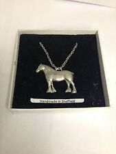Heavy Horse E05 Horse Emblem on Silver Platinum Plated Necklace 18""