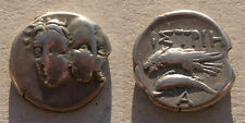 Thrace Istros Silver Drachm - 400-350B.C. - Gemini Twins and Sea Eagle