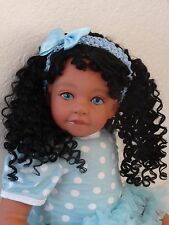 "Reborn 22"" Toddler Girl  Doll ""Desiree""-med. skin tone, ethnic"