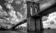 Framed Print - Brooklyn Bridge Crossing the East River in New York City (Picture