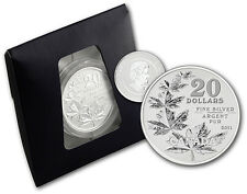 $20 DOLLARS COMMEMORATIVE FINE SILVER .9999 SILVER MAPLE LEAF 1/4 Oz CANADA 2011