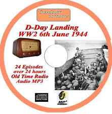 D-Day Landing 6th June 1944 WW2 Old Time Radio Broadcast OTR MP3 CD
