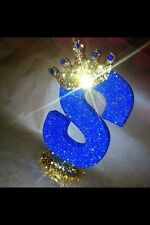 Sparkly Crown Royal Party Decoration Any Letter For Royal Theme Glitter Party