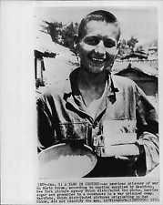 American Prisoner Gets Sugar and Groceries 1952 Eastfoto Korea War Press Photo