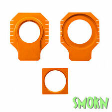 Apico Rear Axle Spindle Adjuster Blocks KTM 250 350 525 530 EXC-F 00-17 Orange