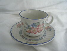 C4 Pottery Staffordshire Cherry Orchard Cup & Saucer 15x9cm 2D6B