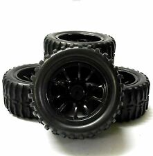 HS211114BK 1/10 Escala Off-Road Monster Truck RC ruedas y neumáticos Negro 10