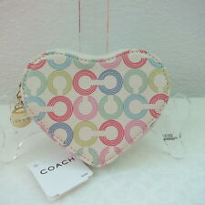 NWT COACH WAVERLY CC HEART COIN PURSE 43710 MULTICOLOUR