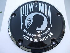HARLEY DERBY COVER  POW * MIA   TOURING, SOFTAIL, CUSTOM