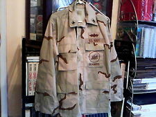 NAVY ISSUE OPERATION IRAQI FREEDOM RIPSTOP SEABEES UNIFORM MEDIUM-REG. VERY NICE
