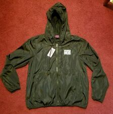 NWT Married To The Mob MTTM Black Zip Up Windbreaker Hooded Jacket Women Size M