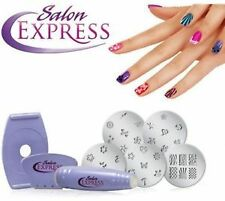 Salon Express Professional Nail Polish Art Kit Decals Paint Stamp