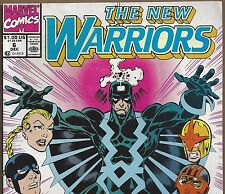 The New Warriors #6 with Black Bolt & Inhumans from Dec. 1990 in Fine Condition