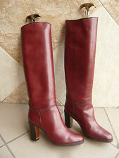 "Bottes  vintage 1983  "" Bordeaux "" -  MANFIELD  par  STEPHANE KELIAN   -  T. 36"
