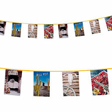 10m Wild West Western Cowboy Saloon Party Flag Banner Bunting Decoration