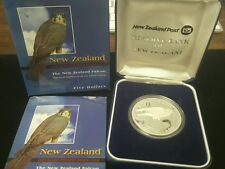 2006 Five Dollar New Zealand Falcon Silver Frosted Proof Coin No. 404