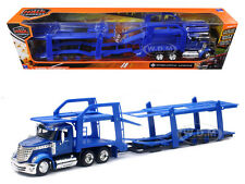 INTERNATIONAL LONESTAR BLUE WITH TWIN AUTO CARRIER 1/43 BY NEW RAY SS-16713