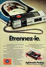 Publicité advertising 1976 Appareils photo Agfamatic Pocket Agfa Gevaert