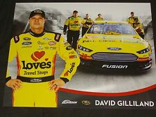 2015 DAVID GILLILAND #38 LOVE'S TRAVEL STOPS VERSION 2 NASCAR POSTCARD