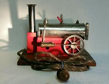 VINTAGE TOY WEEDEN MODEL # 43 ELECTRIC STEAM ENGINE NICKEL PLATE BRASS BOILER