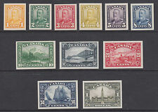 Canada Sc 149-159 mint Proofs, 1928-29 King George V Scroll issue complete, VF