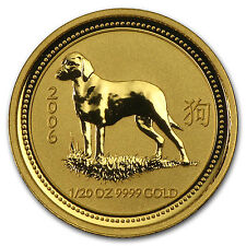 2006 1/20 oz Gold Lunar Year of the Dog BU (Series I) - SKU 11161