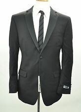 NWT DKNY Men's Tuxedo Jacket Blazer 42R Black 100% Wool  c-247