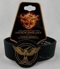 New The Hunger Games Mockingjay Part 1 Logo Die-cut Rubber Bracelet Wristband
