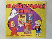 Classic Covers HARVEY COMICS 2001 RARE Calendar ~ Hot Stuff CASPER Richie Rich