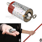 APPEARING CANE METAL RED MAGIC TRICKS CLOSE UP ILLUSION Stage SILK TO WAND