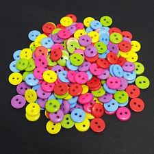 100PCS 2 Hoyos 9mm Multi-color CRAFT La costura Botones Ropa Coser Herramientas