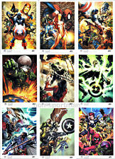 MARVEL UNIVERSE 2011 ARTISTS DRAFT SET (9)