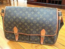 Authentic Louise Vuitton Brown Monogram  Messenger Bag