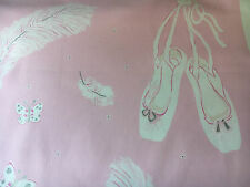 """sanderson fabric curtain material""""ballet shoes"""" piece 2.4 mtrs 54""""wide cotton"""
