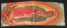 NEW VIRGEN OF GUADALUPE LEATHER WALLET! Mexican Catholic banknote men's bifold