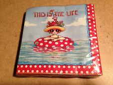 New Mary Engelbreit Drink Paper Napkins, 'This Is The Life'