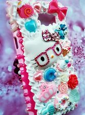 Pink blue decoden Hello Kitty case for ALL Samsung models Note 5 Note 4 S6 S5