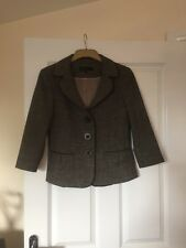 NEXT WOMAN Tweed Wool Effect Fitted Jacket Size 12