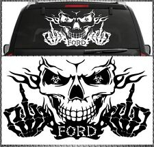 Skull Ford power autocollant sticker tete de mort vitres 58x34cm Focus Mondeo