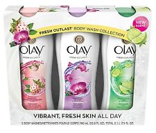 Olay Fresh Outlast Body Wash 23.6 fl. oz 3 pk Cooling White Strawberry Soothing