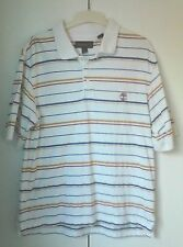 TIMBERLAND - WHITE POLO SHIRT WITH COLOURED STRIPES - SIZE L