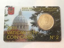 2011 vatican city coin card 50 euro cent pope benedict XVI new uncirculated