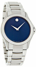 Movado Masino Blue Dial Signature Dot Steel Men Watch 0607033 - New Arrival Sale